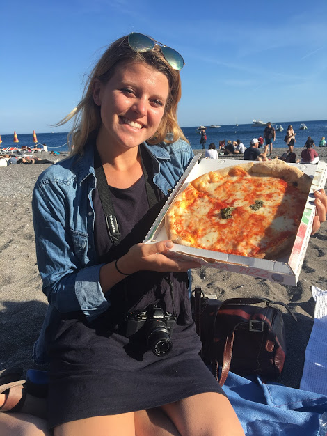 Pizza on the beach